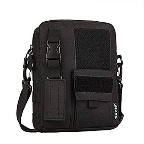 Man Outdoor Sports Tactical Chest Pack Army Daypack Military Molle Sling Shoulder Bag (Black) (Black)