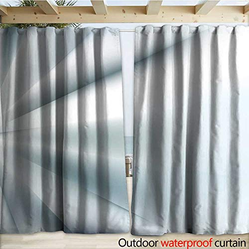warmfamily Home Patio Outdoor Curtain Geometric Background Crystal Polygon Angle Vector Pattern Light Refraction The Edges Outdoor Curtain W120 x L84