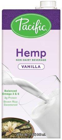Pacific Foods Hemp Vanilla Plant-Based Beverage, 32oz, 12-pack