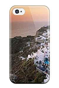 Fashion GqwJwRv9579uZAKZ Case Cover For Iphone 4/4s(sunset On The Island Of Santorini Greece Nature Other)