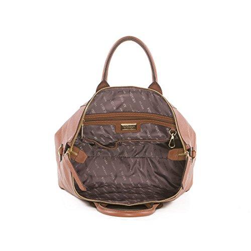 Arcadia Tracie italienische Leder-große Tote-Handtasche, Umhängetasche bräunen