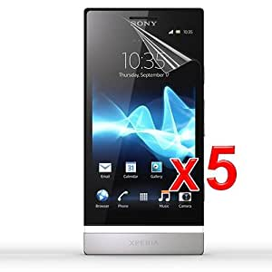 Skque Reusable Anti Scratch Screen Protectors for Sony Ericcson Xperia P LT22i Nypon, 5 packs