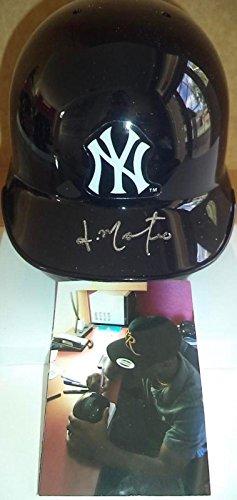Jorge Mateo New York Yankees Signed Auto Riddell Mini Helmet