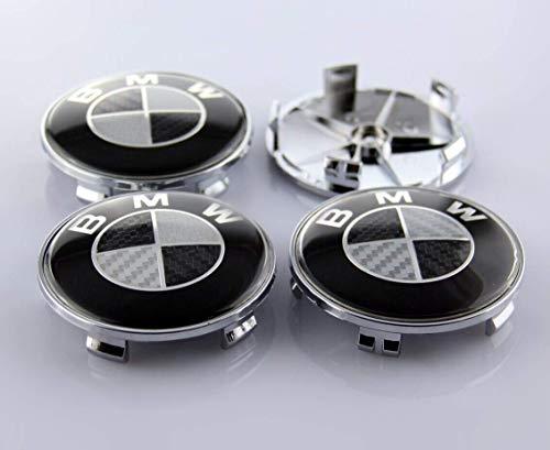 Center Wheel Emblem - Cear bics Set of 4 Pieces 68mm Black Carbon Fiber Center Wheel Hub Caps for BMW - Applicable to BMW All Models Wheel Center Caps Emblem