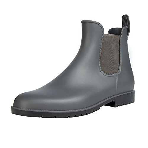 Slip Slip Womens Black Elastic Gray Ankle Booties Rain Comwarm Waterproof Rain Anti Shoes Boots On Chelsea Rain nETRRx4