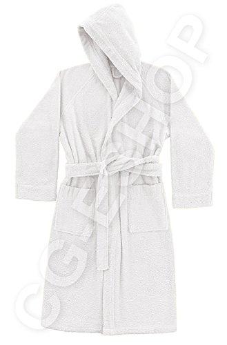 Donna Giuliana Uomo S Accappatoio s Cotone Bianco Con Confezioni Gr 100 Capuccio 390 Unisex Spugna vdvqSzwF