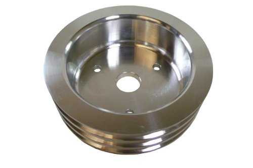 - Racer Performance Chevy Small Block Aluminum Crank Pulley - 3 Groove (Short)