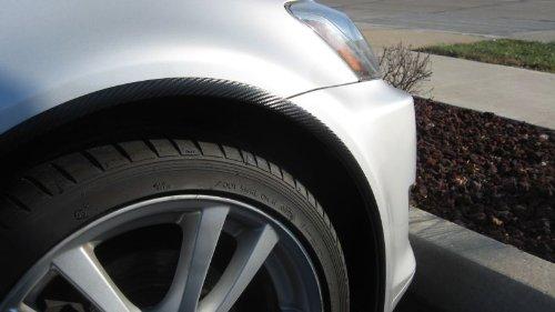 312 Motoring fits 2008-2012 FORD ESCAPE CARBON FIBER WHEEL WELL//FENDER TRIM MOLDINGS 4PC 2009 2010 2011 08 09 10 11 12