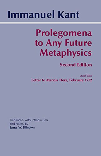 Prolegomena to Any Future Metaphysics: and the Letter to...