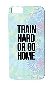 Durable Sports Miscellaneous Sports Train Hard Gym Muscles Training TPU For Iphone 5c Black Case