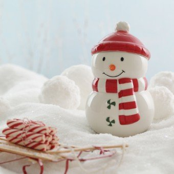 Hallmark Winter Holiday Snowman Cookie Treat Jar ()