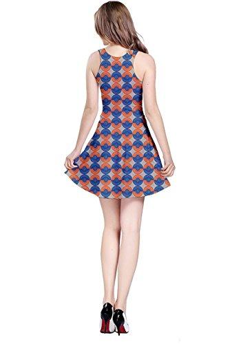 CowCow - Vestido - para mujer Orange & Blue