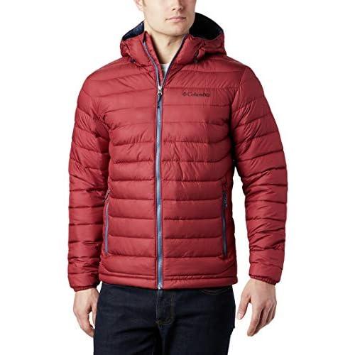 chollos oferta descuentos barato Columbia Powder Lite Hooded Chaqueta De Plumón Con Capucha Hombre Rojo Red Jasper Talla XXL