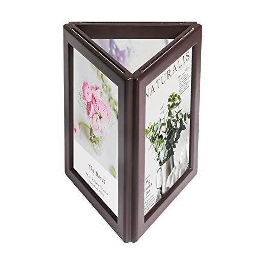 simpdecor Picture Frame 5x7 Three-Sided Photo Frame with Light Display on Tabletop or Shelf for Home Desk Kids Art ()