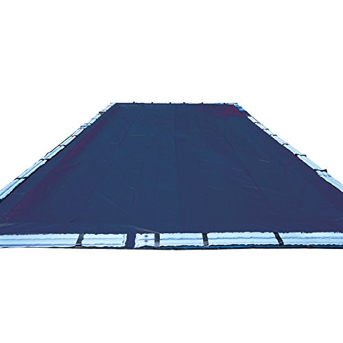 10-Year 18 x 36 Foot Rectangle Blue In Ground Swimming Pool Winter Cover