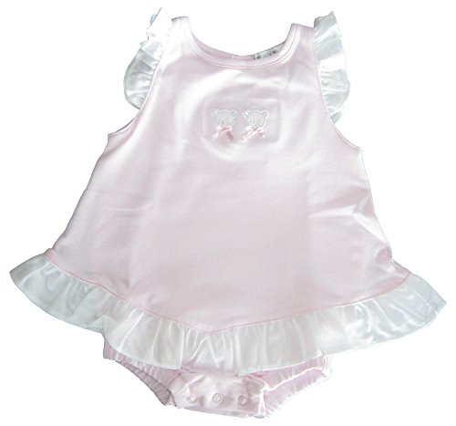 Kissy Kissy Baby-Girls Infant Pique Bears Ruffle Bubble-Pink-3-6 Months