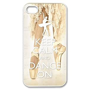 Keep Calm and Dance On Plastic Iphone 4/4S Case by runtopwell
