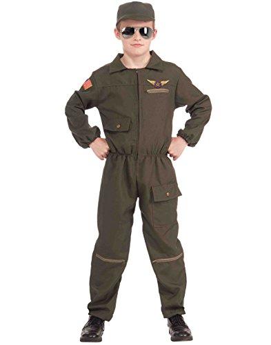 Forum Novelties Fighter Jet Pilot Child Costume, Small ()