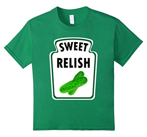 Kids Easy Halloween Costume Relish Shirt Group Ketchup Mustard 10 Kelly Green