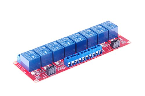 KNACRO 8-Channel 10A Relay Module DC 24V with Optocoupler Isolation High Low Level Triger for Arduino(DC 24V, 8-Channel)