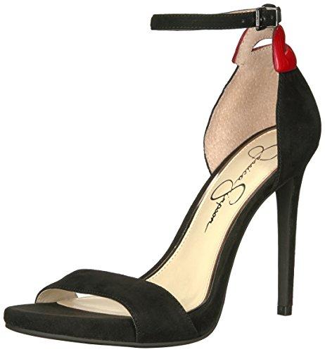 Red Heeled Jessica Reenah Simpson Sandal Multi Women's Black wScpqv