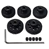 AMOGOT Metal Steel 48P Pinion Gear 33T 34T 35T 36T 37T 3.175mm Shaft Motor Gears Set with Hex Key for 1/10 RC Brushless Brush Motor RC Upgrade Part