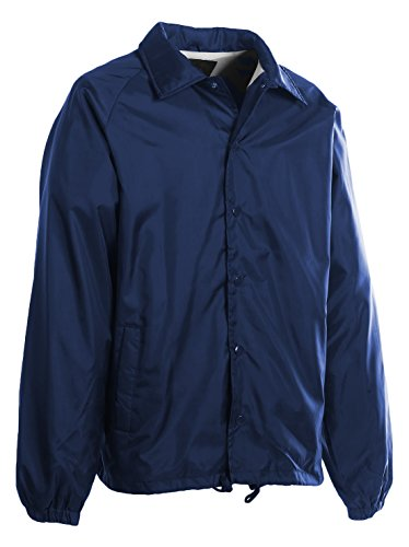 First Class 100% Nylon Windbreaker (Navy Blue)-Large