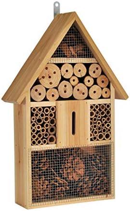 Spetebo Natur Insektenhotel zum aufhängen - 48 cm x 31 cm x 10 cm - Insektenhaus zum hängen