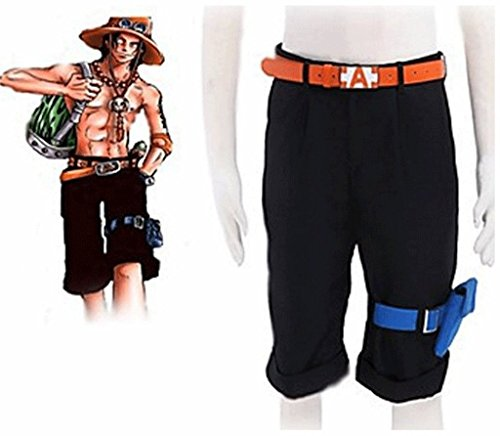Ace Pant - Mxnpolar One Piece Portgas¡¤D¡¤ Ace Shorts Pants Trouses Cosplay Costume M