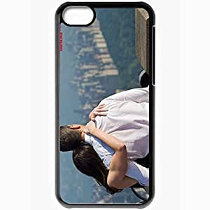 Personalized iPhone 5C Cell phone Case/Cover Skin Adjustment Bureau Emily Blunt Matt Damon Movies Black