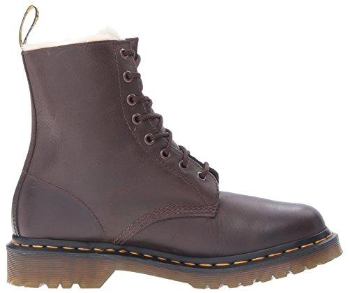 Dr. Martens Kvinna Serena Skinande Wyoming Chukka Boots Mörkbrun Skinande
