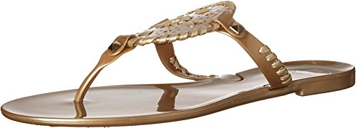 Jack Rogers Women's Georgica Jelly Sandal, Gold, 9 M -