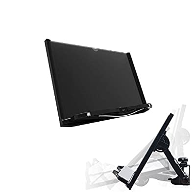 QLTP Premium Multi-functional Book Notebook Tablet Desk Stand Black - 0 to 90 Degrees Adjustable Angles - Worldwide Patent Pending - Made in Korea