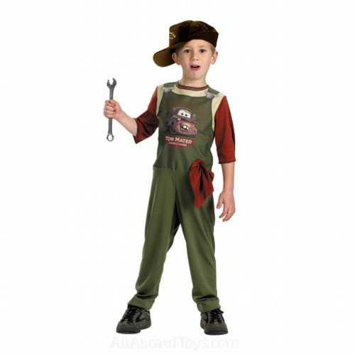 Tow Mater Mechanic Costume - Small (Tow Mater Halloween Costume)