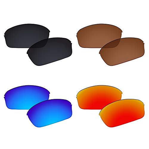 (Galvanic 4 Pairs Polarized Replacement Lenses for Oakley Half Wire 2.0 Pack P02)