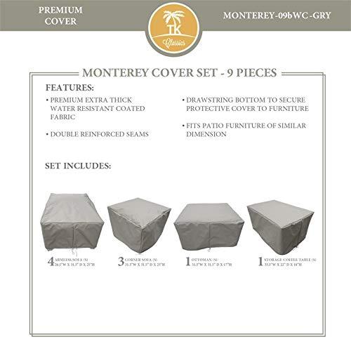 TK Classics MONTEREY-09b Protective Cover Set in Gray