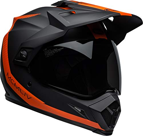 Bell MX-9 Adventure MIPS Full-Face Motorcycle Helmet (Switchback Matte Black/Flo Orange, Large)