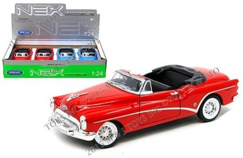 NEW 1:24 WELLY DISPLAY COLLECTION - 1953 BUICK SKYLARK CONVERTIBLE Diecast Model Car By Welly (Box Set of 4 Cars) (Skylark Collection)