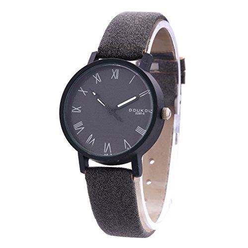 Retro Simple Roman Numerals Dial Easy Read Artificial Leather Strap Men Women Lover Wrist Watch, - Me Best Near Store Glasses