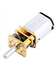 DC 6V 30 RPM Speed Reduction Gear Motor with Metal Gearbox N20 3 MM Shaft Diameter × 10 MM Shaft Length for DIY Electric Toys Small Cars Robots Model