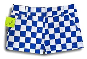 Loudmouth Golf Womens Mini Shorts: Derby Chex Size 2