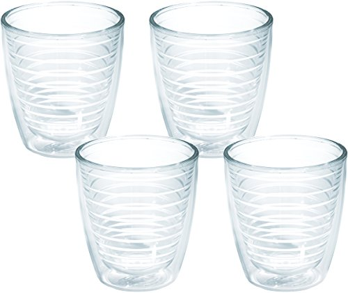 Tervis 1005762 Clear & Colorful, Clear Tumbler 4 Pack 12oz, Clear (Clear Insulated Tumblers)
