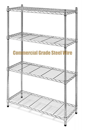 Dance Costumes Australia Sydney (Commercial Grade NSF 4-Tier Steel Shelving Storage Office Garage Kitchen Closet Organizer Adjustable Durable Constructed Wire Shelf - Chrome Finish #1166)