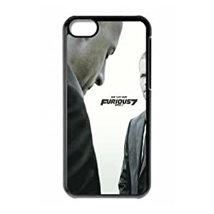 HQYDIY Customised fast and furious 7 Plastic Case, Personalised fast and furious 7 Hard Cell Phone Case for Iphone 5C