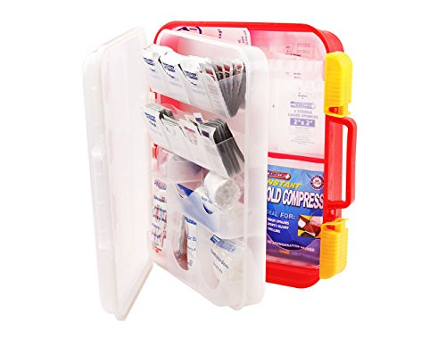 Rapid Care First Aid 82334 334 Piece OSHA Multi Compartment Wall Mountable First Aid Kit with Easy Access Tilt Trays