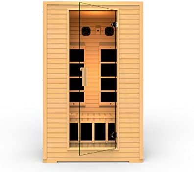 Maxxus 3 Per Low EMF FAR Infrared Carbon Corner Canadian Hemlock Sauna