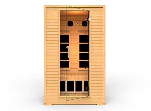 JNH Lifestyles SG2HB 2015 Model 2 Person Far Infrared Sauna with 5 Carbon Fiber Heaters