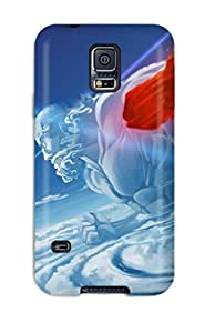 Rugged Skin Case Cover For Galaxy S5- Eco-friendly Packaging(touhou)