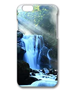 iCustomonline Fantasy Waterfall Among Mountains 3D Hard Back Skin Cover for iPhone 6( 4.7 inch)
