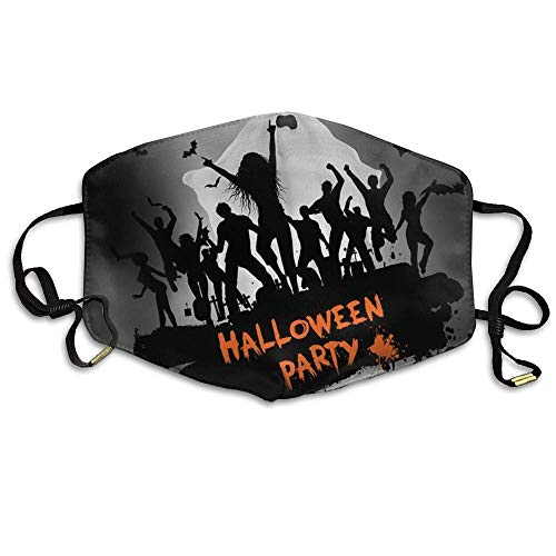 SOADV Mouth Masks Unisex Grunge Halloween Party Background Anti Germs Breathable Health Masks Mouth Face Masks ()